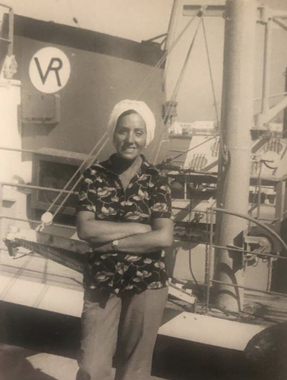 Foto de álbum familiar de su gran referente, su abuela