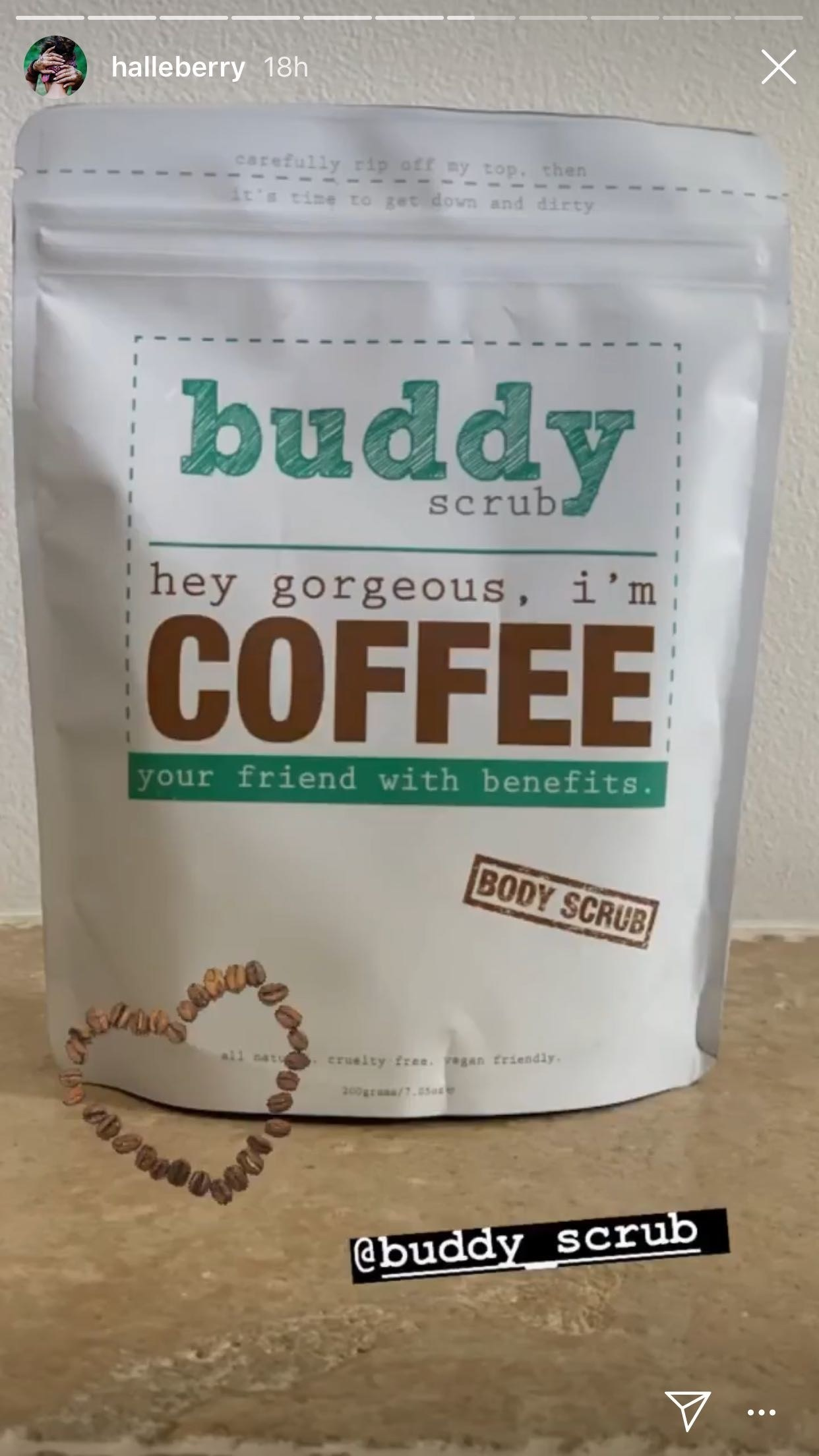 Buddy Scrub Hey Gorgeous, I?m Coffee Boddy Scrub