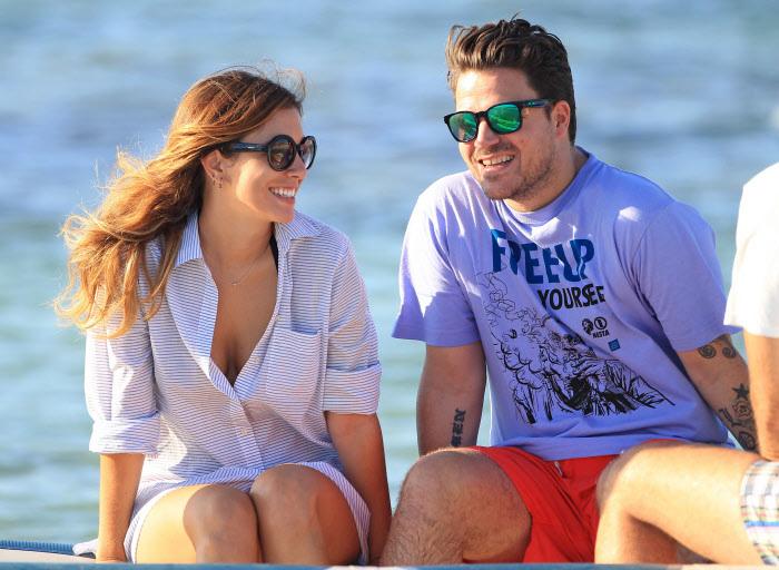 Blanca Suárez y Dani Martín durante unas vacaciones en Ibiza.