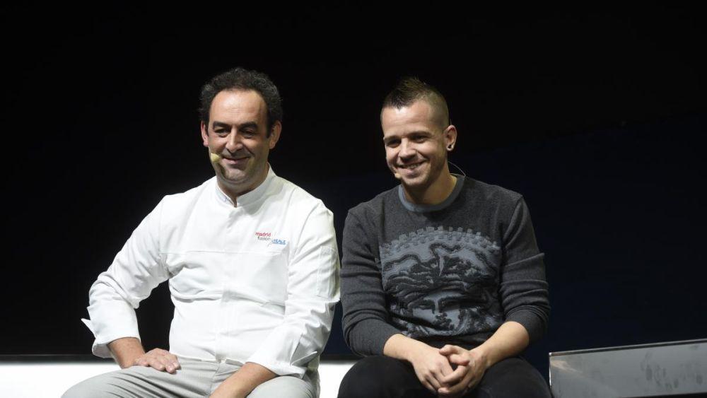 El heladero Fernándo Sáenz (DellaSera) y el cocinero Dabiz Muñoz (Diverxo)
