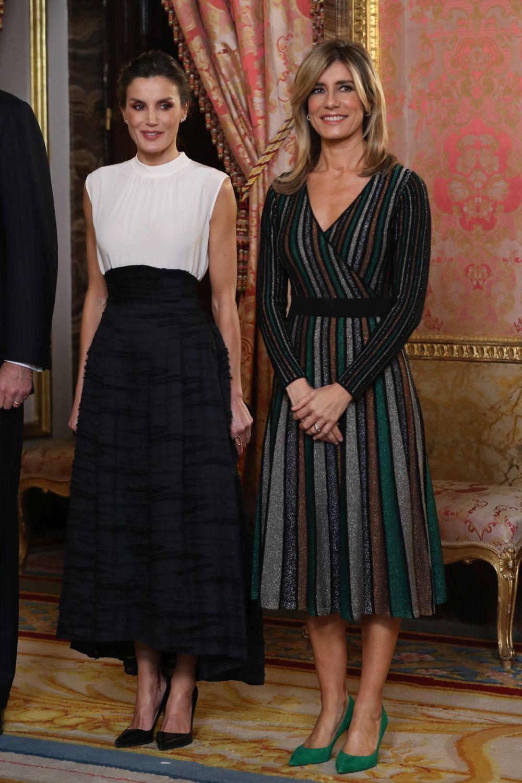 Begoña Gómez junto a la reina Letizia.