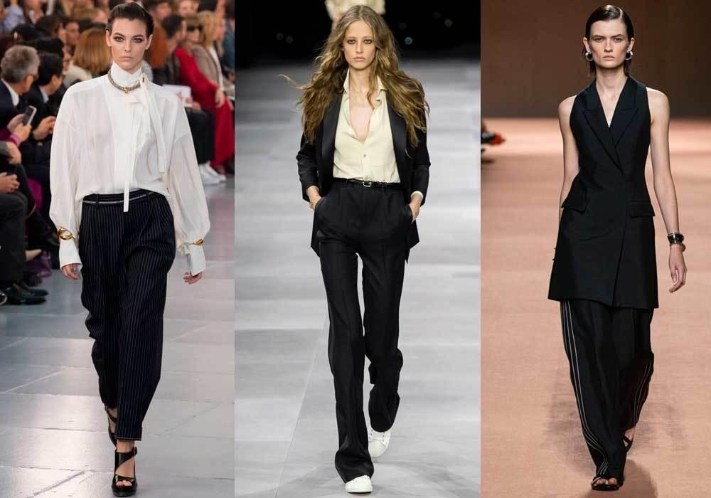 de izquierda a derecha, Chloé, Céline y Hermès.