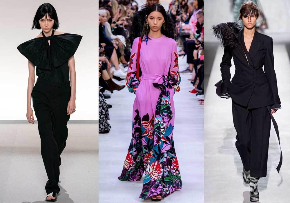 De izquierda a derecha, Givenchy, Valentino y Dries Van Noten.