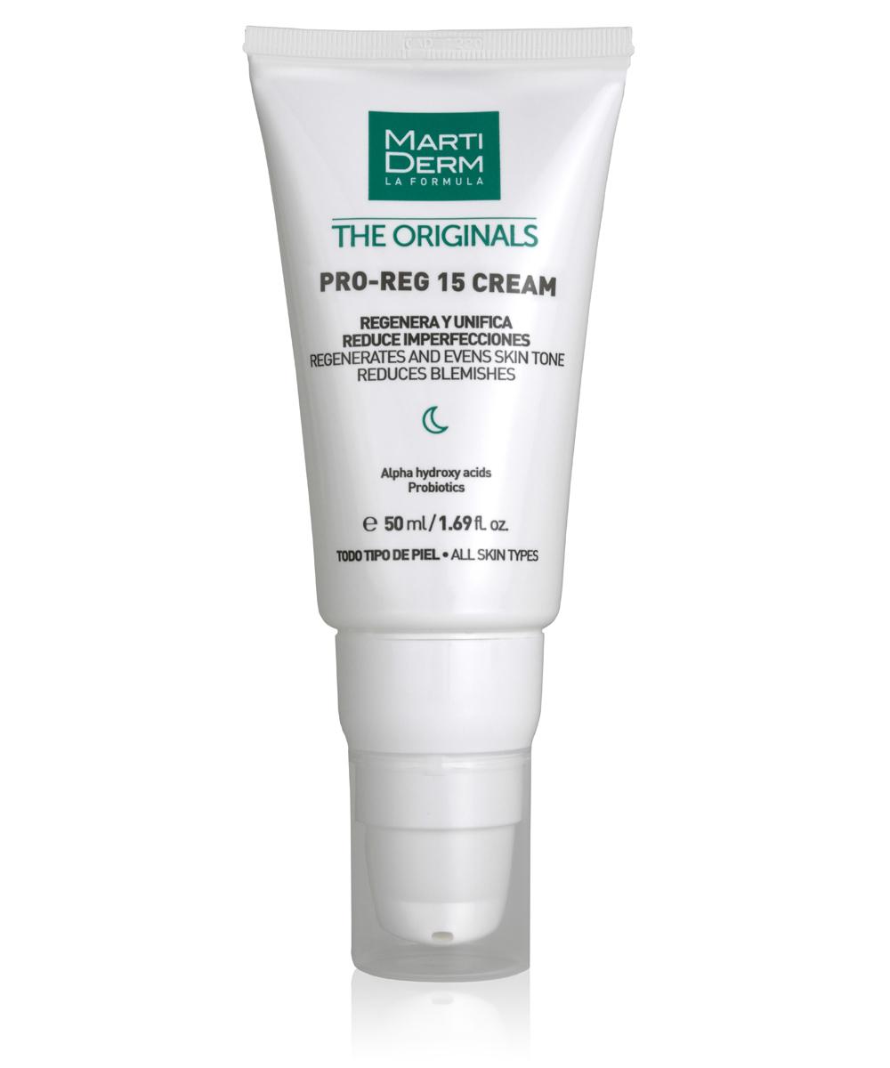 Crema regeneradora nocturana Pro-Reg 15 Cream -Gel in Oil de Martiderm, para poros abiertos.