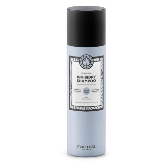 Invisidry Shampoo, de Maria Nila (24 euros).  Incluye extracto de semilla de girasol, almidón de arroz y aceite de abisina con el fin de refrescar las melenas grasas.