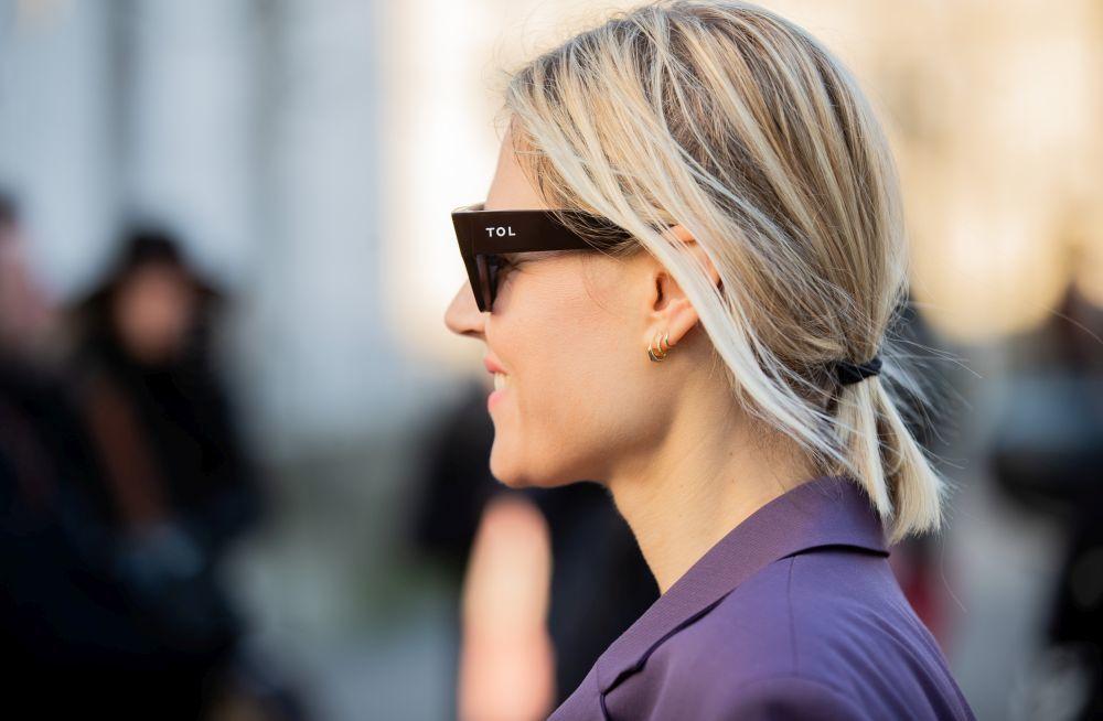 Detalle de las gafas de Linda Tol.