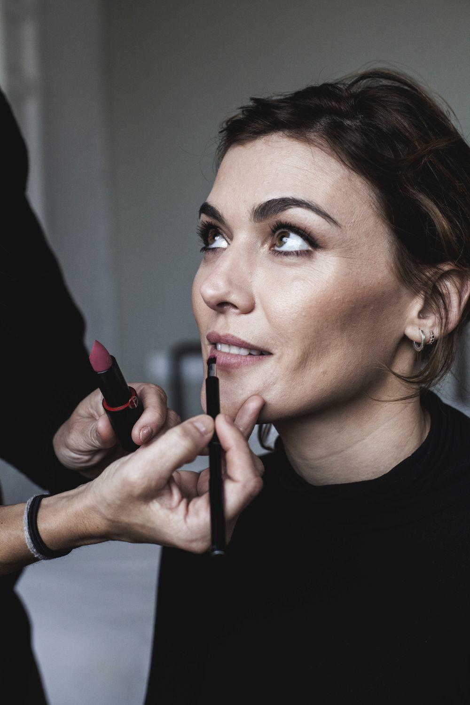 Marta Nieto, con maquillaje de Armani Beauty por Natalia Belda.