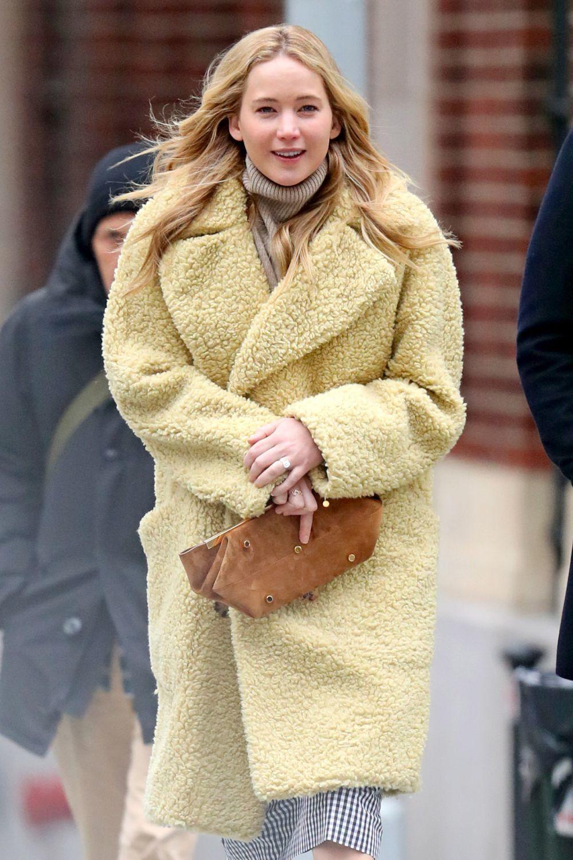 Jennifer Lawrence el pasado mes de diciembre en Nueva York a cara lavada.