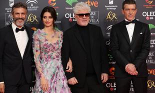 El actor Leonardo Sbaraglia, Penelope Cruz, el director Pedro...