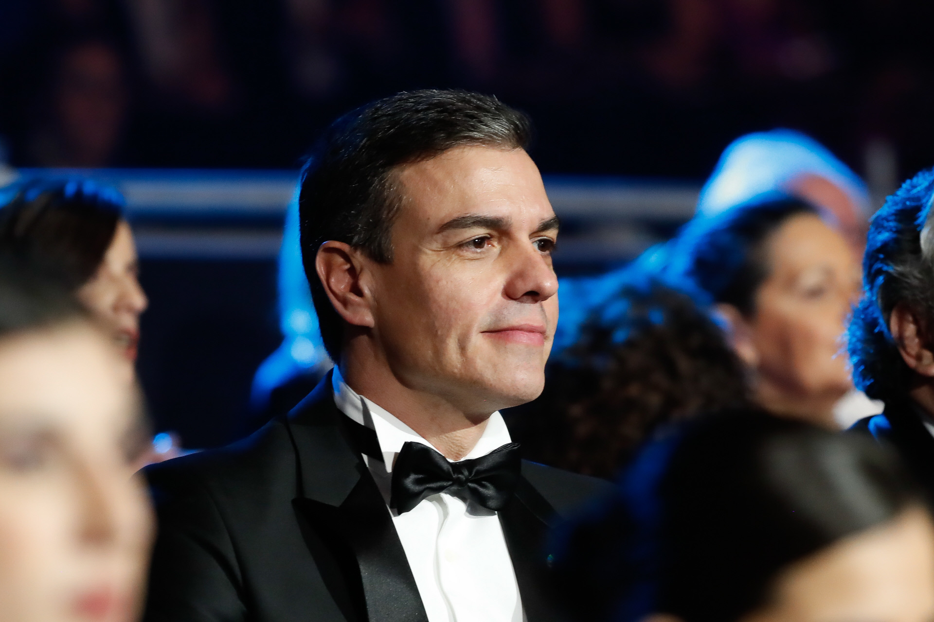 Pedro Sánchez durante la gala de los Premios Goya 2020