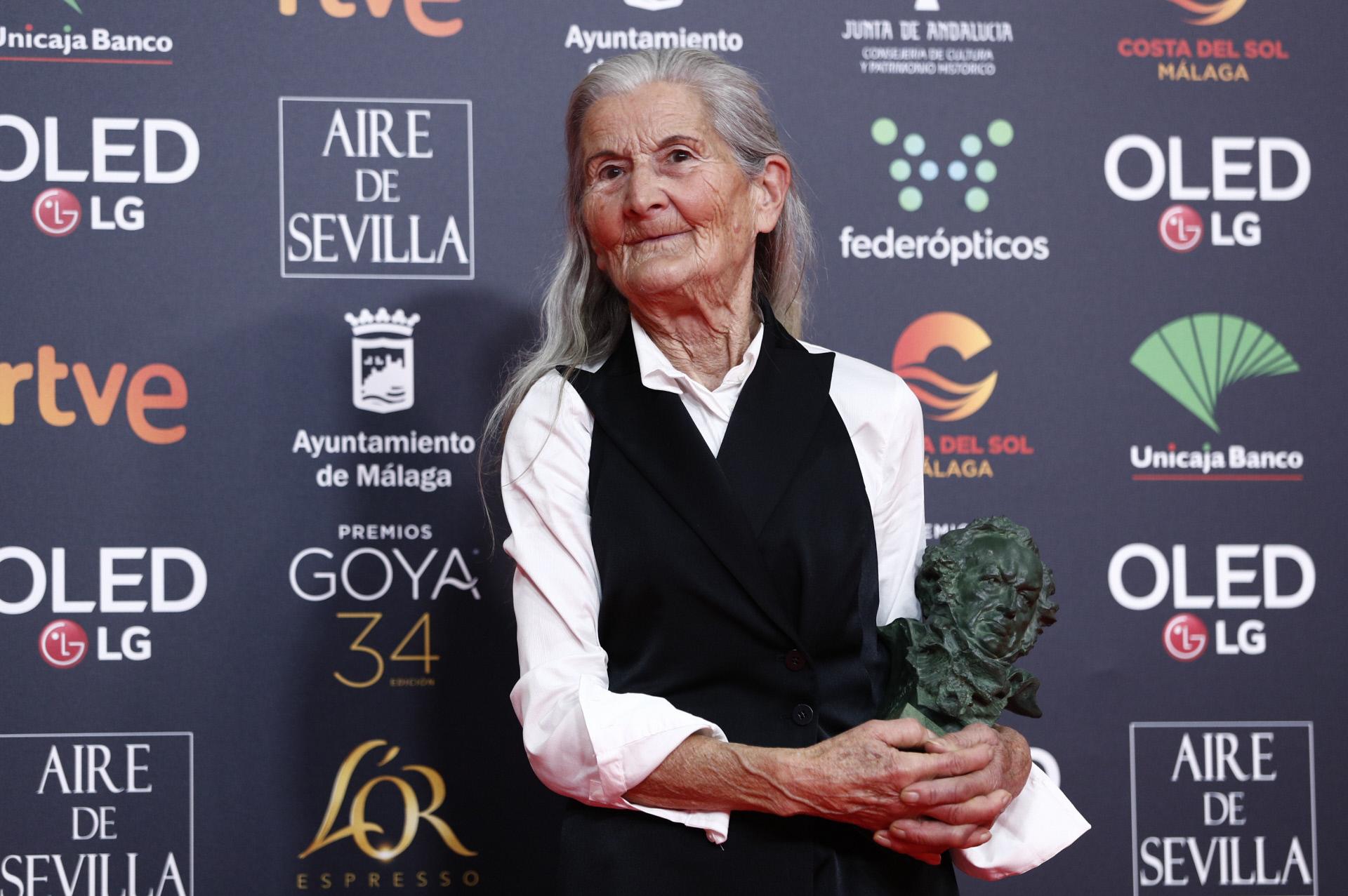 A los 84 años, Benedicta Sánchez ganó el Goya a Mejor Actriz Revelación.