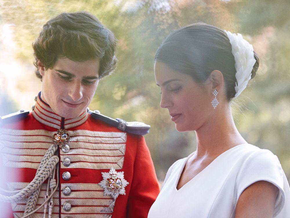 Sofía Palazuelo en su boda.