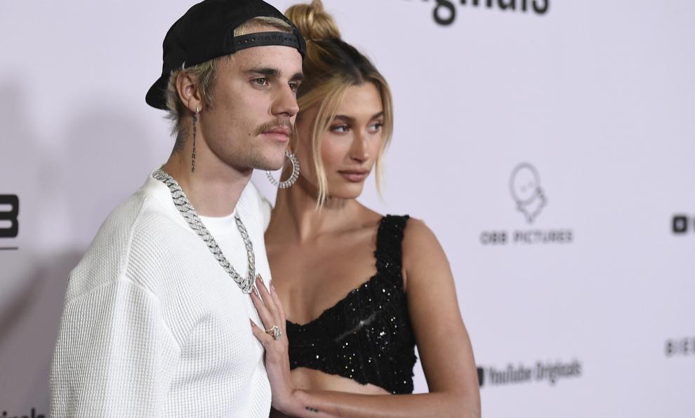 """Justin Bieber y Hailey Baldwin en la presentación de """"Justin Bieber:..."""