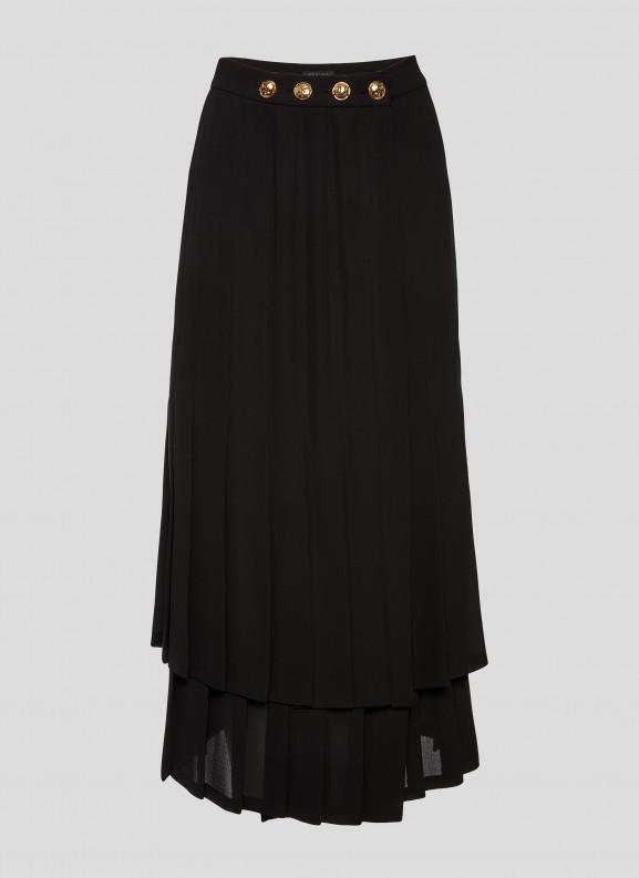 Falda de crepe