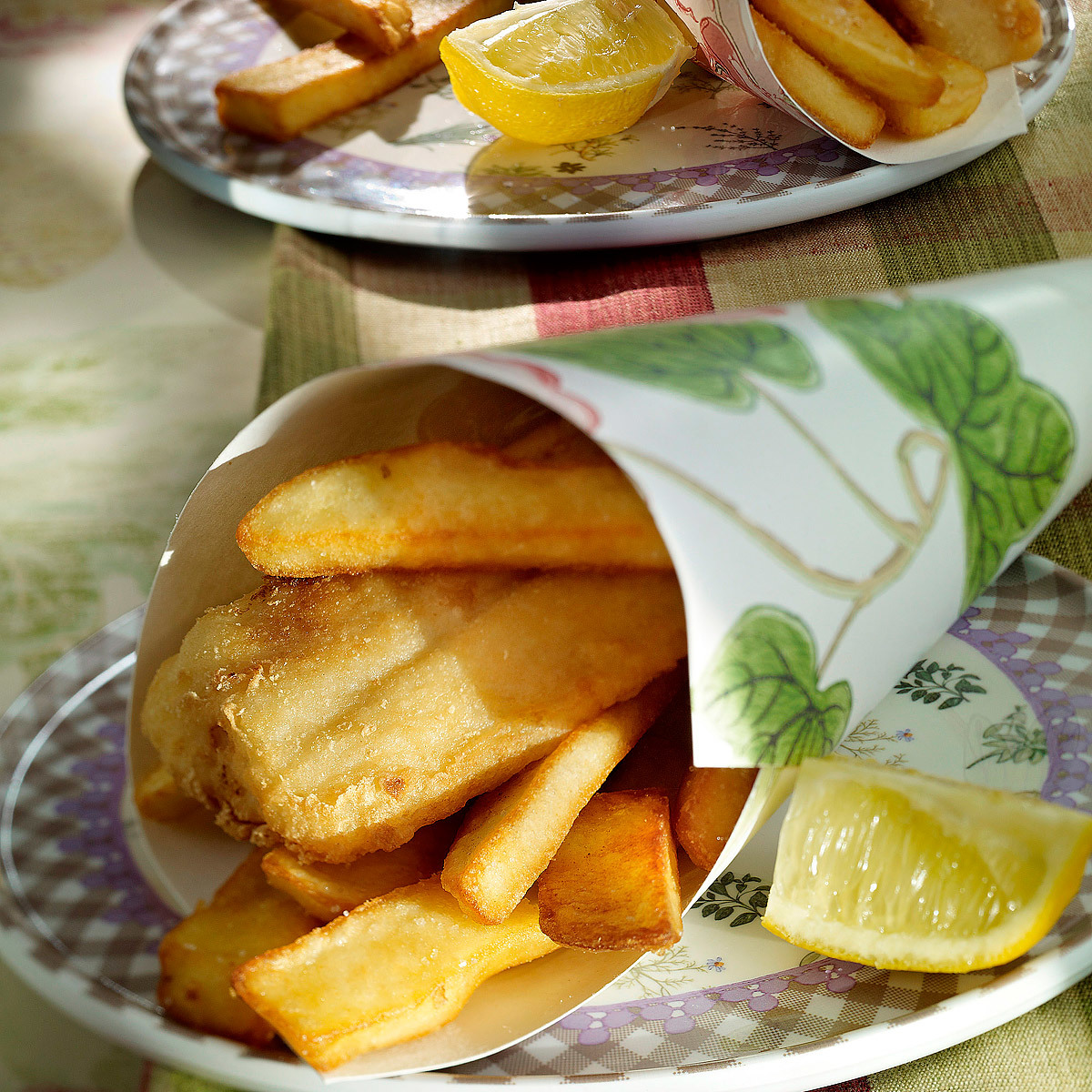 Fish and chips casero
