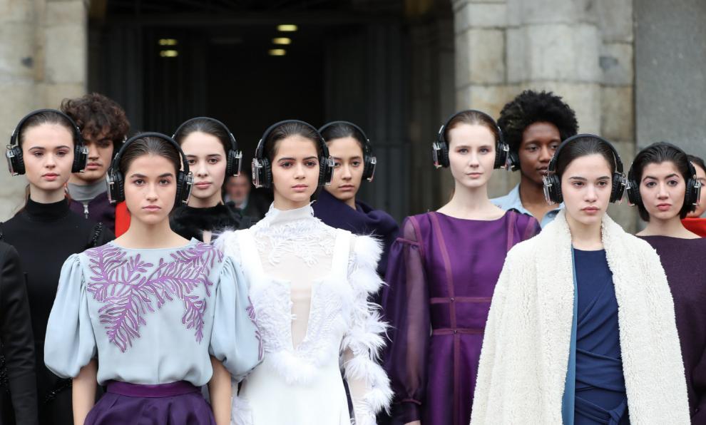 Las modelos del desfile de Pilar Dalbat en La Casa de la Panadería