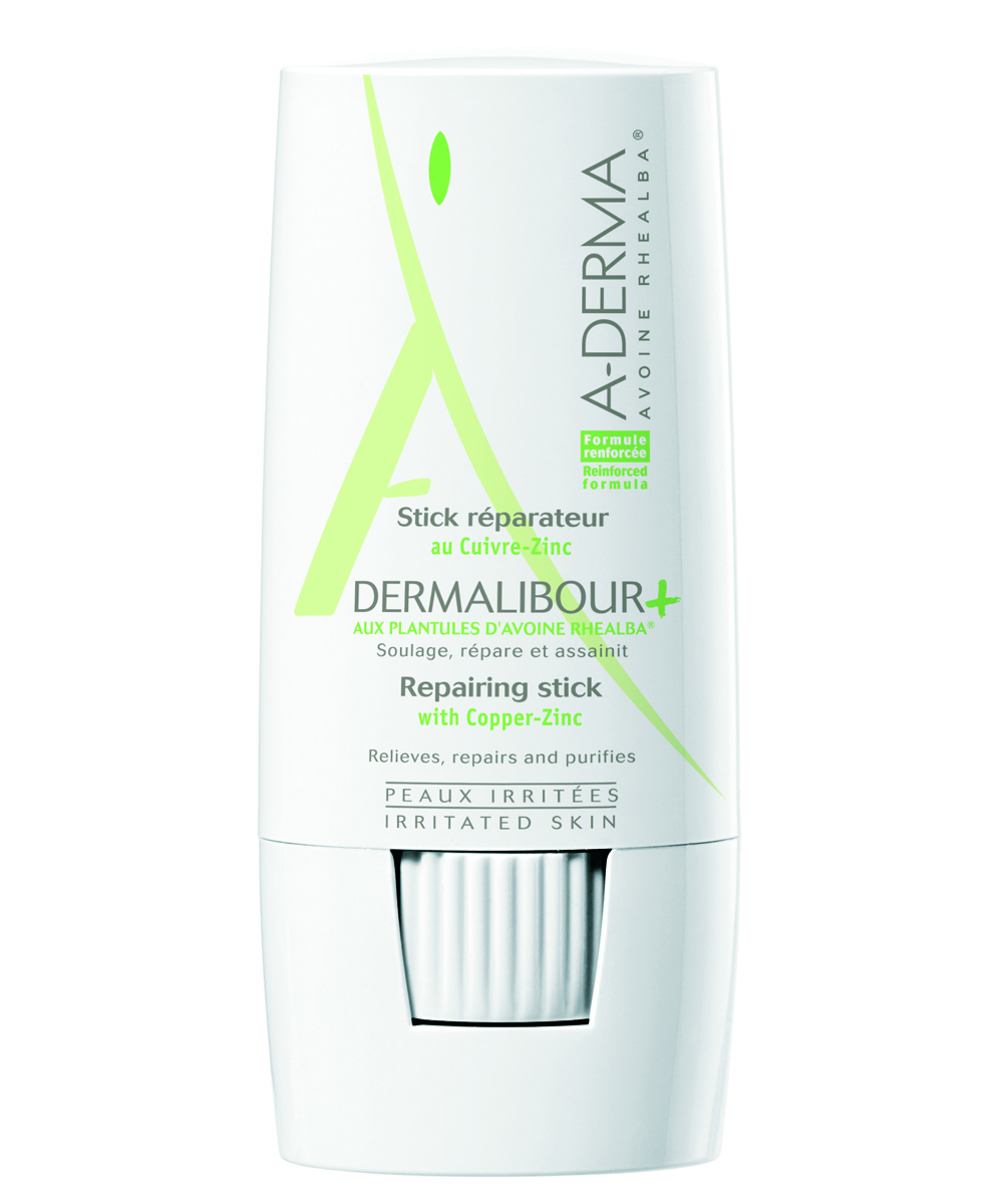 A-Derma Dermalibour Stick Reparador alivia la piel irritada y puedes usarla en cualquier lugar gracias a su práctico formato.