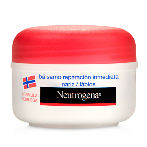 Neutrógena Bálsamo Reparación Inmediata Nariz y Labios para la piel irritada o agrietada.
