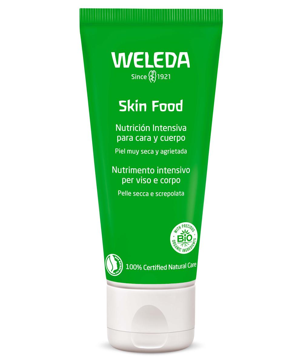 Skin Food Original de Weleda es una crema tan versátil que sirve para nutrir partes secas e irritada de codos, rodillas, pies, manos... y rostro.
