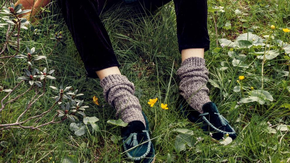 Los mocasines y los zapatos planos también son aptos en invierno...