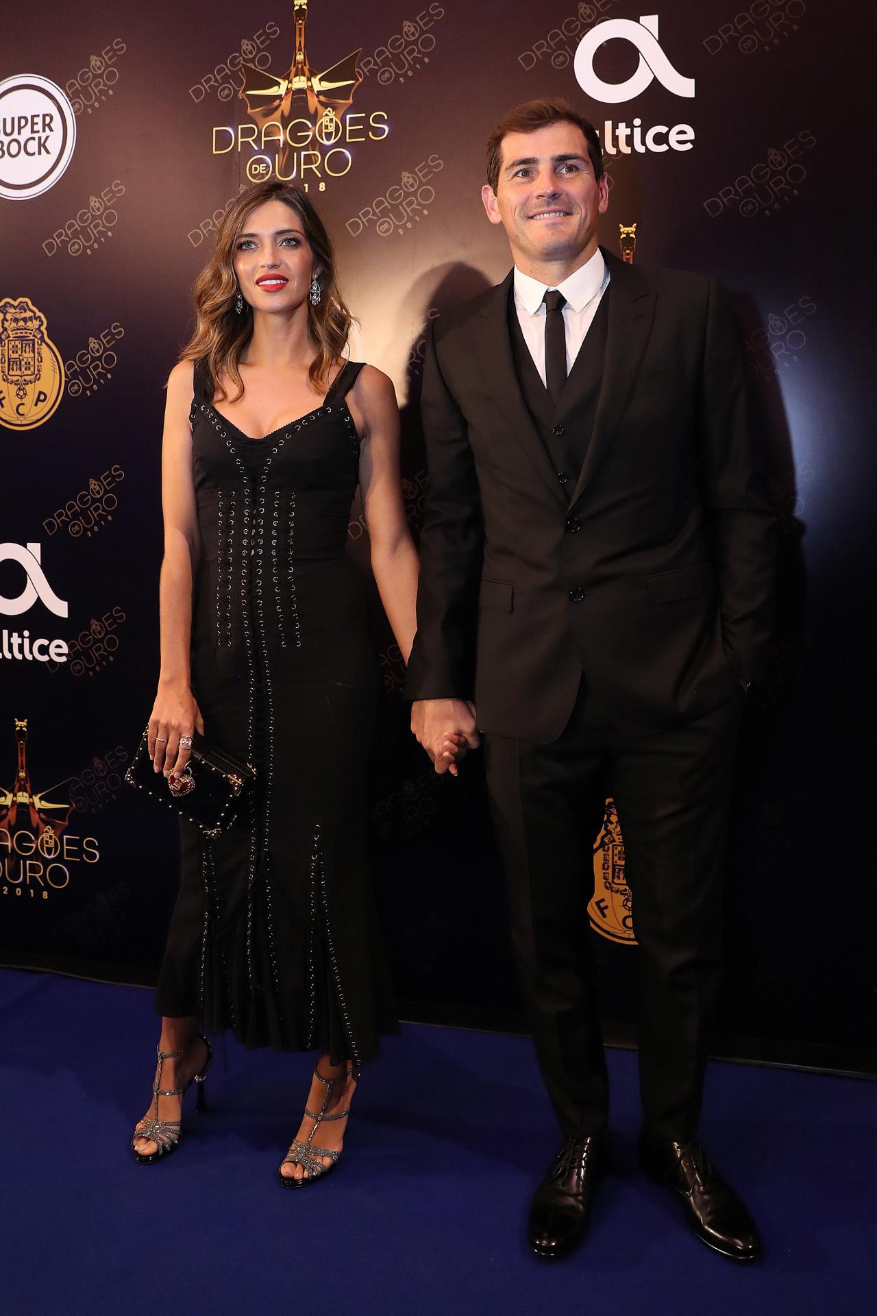 La periodista Sara Carbonero y el futbolista Iker Casillas durante los...