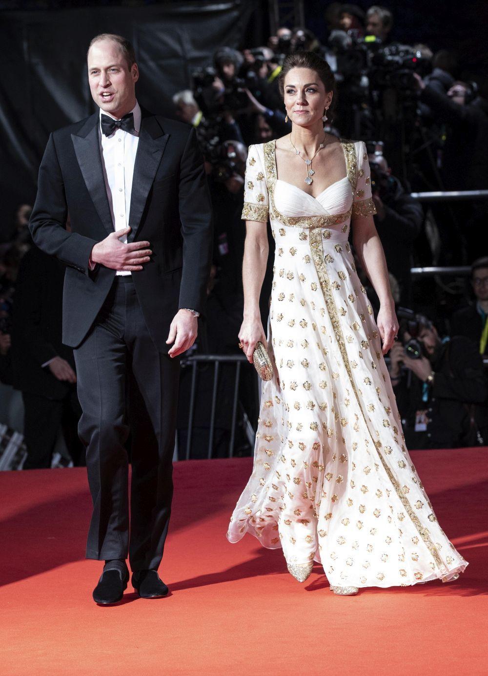 Los duques de Cambridge en los premios BAFTA.