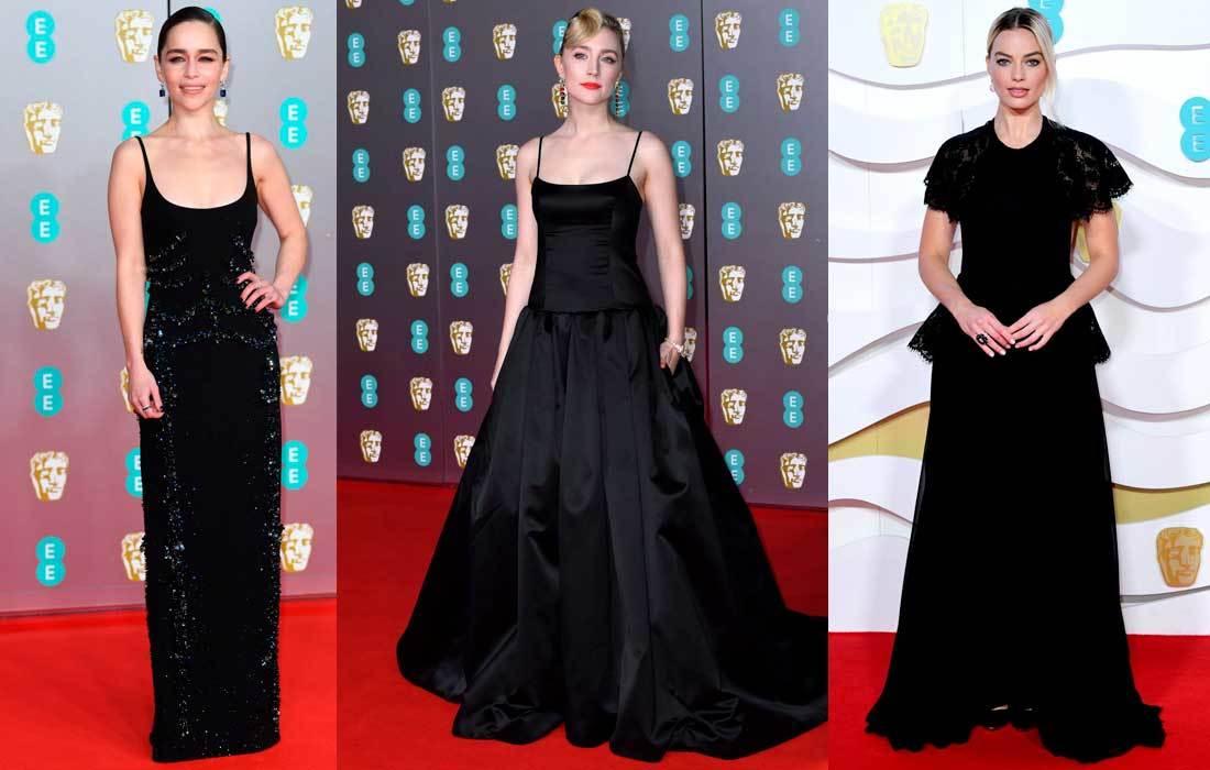 Emilia Clarke, Saoirse Ronan y Margot Robbie.