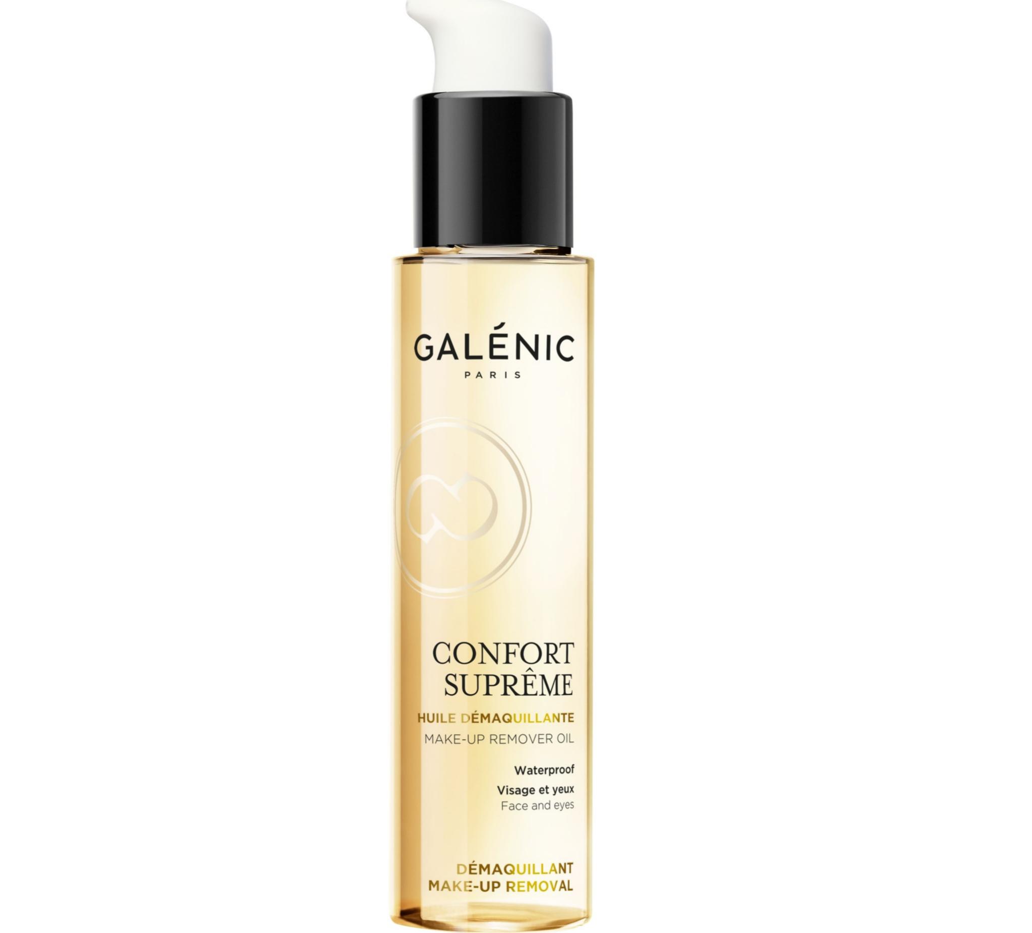 Galénic Confort Suprême. Aceite desmaquillante no graso, ideal para retirar las impurezas y eliminar con suavidad el maquillaje, incluso el más resistente. 25,90 euros.