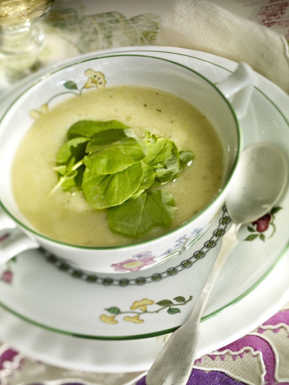 Las verduras se digieren mejor en forma de crema o puré.