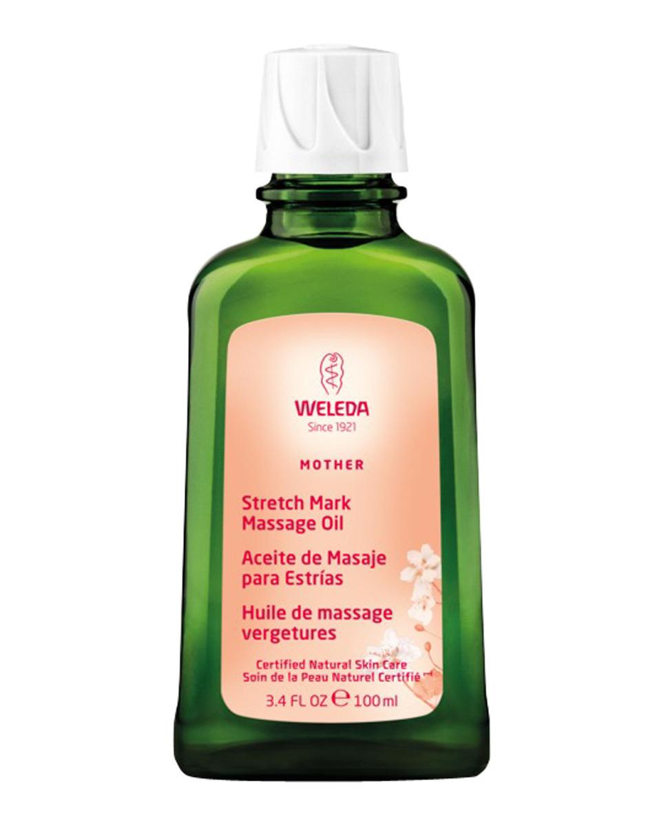 Aceite de masaje para las estrías de Weleda.