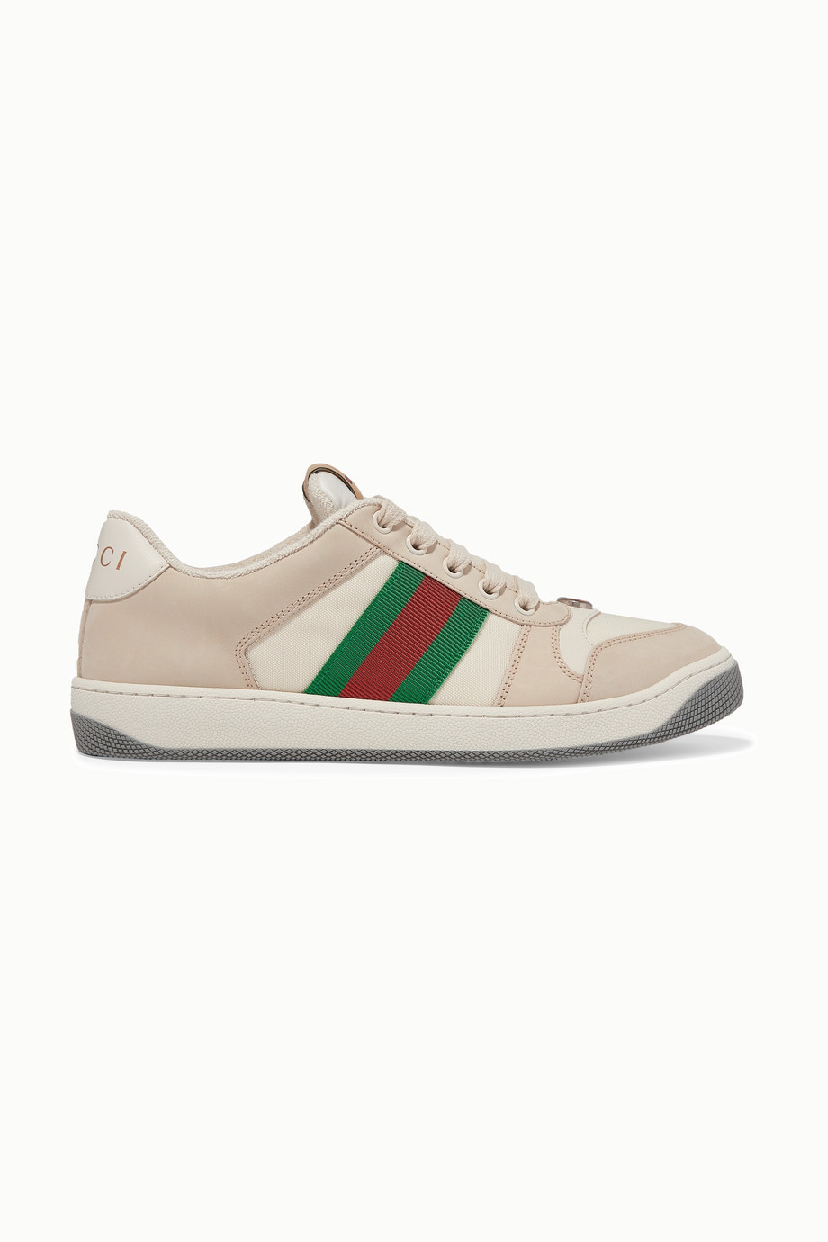 Zapatillas modelo screener de Gucci.