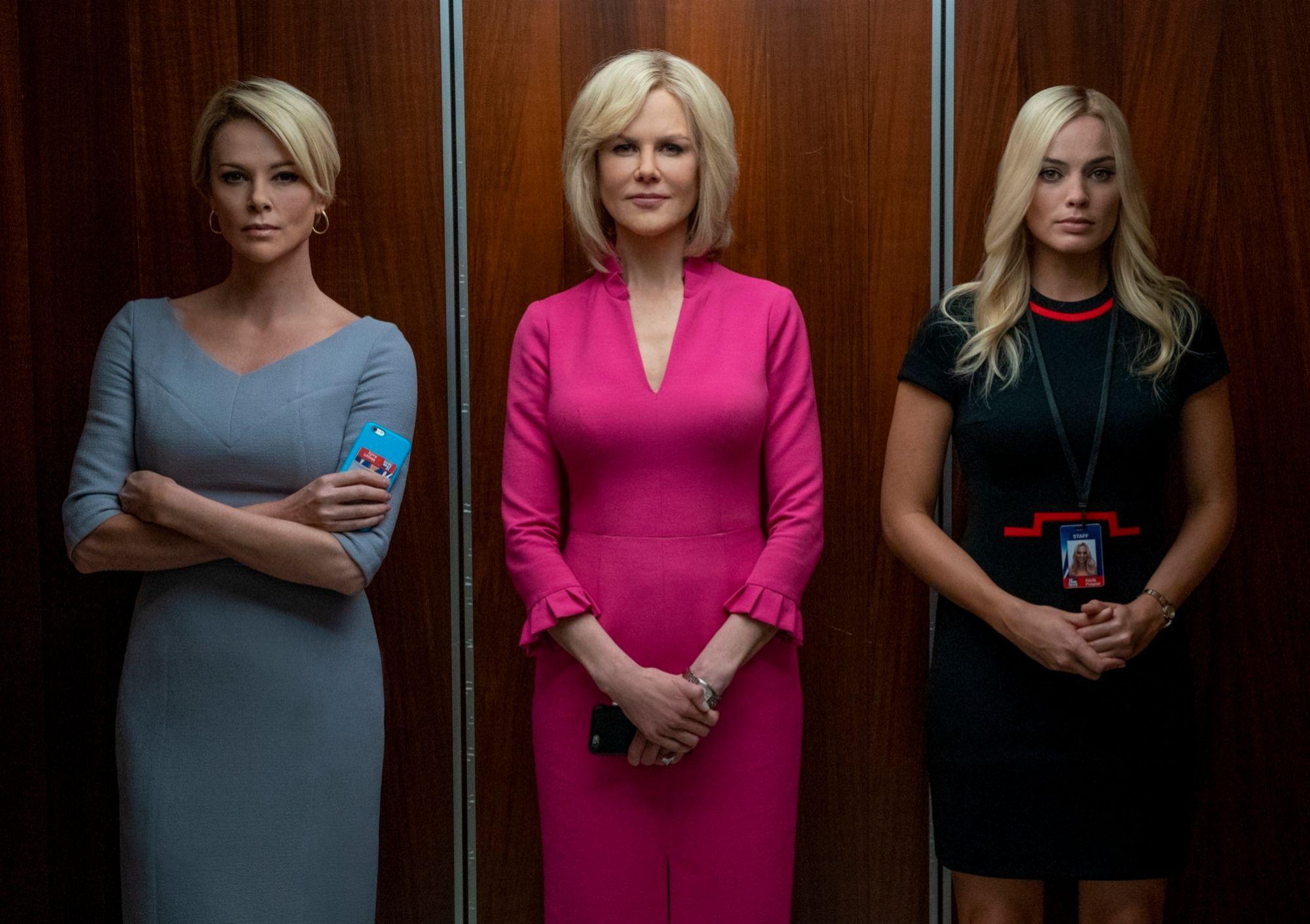 Charlize Theron, Nicole Kidman y Margot Robbie en El escándalo