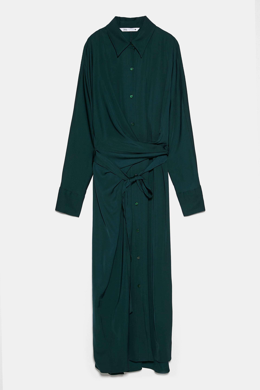Vestido camisero, Zara.