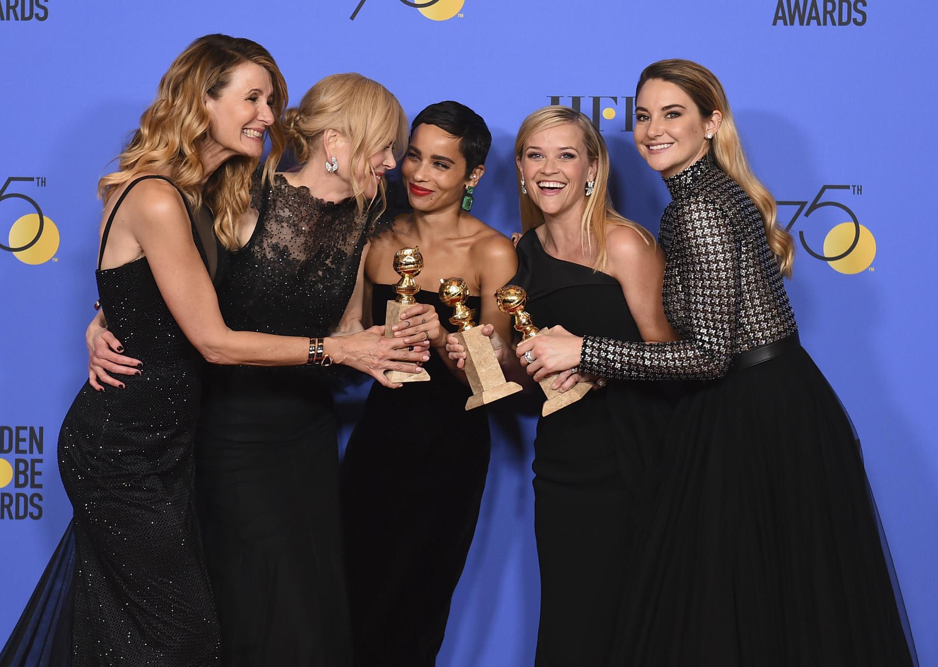 """El elenco de """"Big Little Lies"""" en los Globos de Oro 2019."""