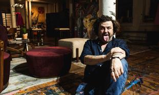 Domingo Zapata en su estudio del SoHo en Nueva York.