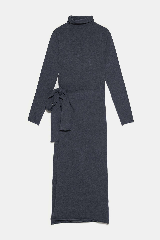 Vestido de punto con lazo de Zara (29,95¤)