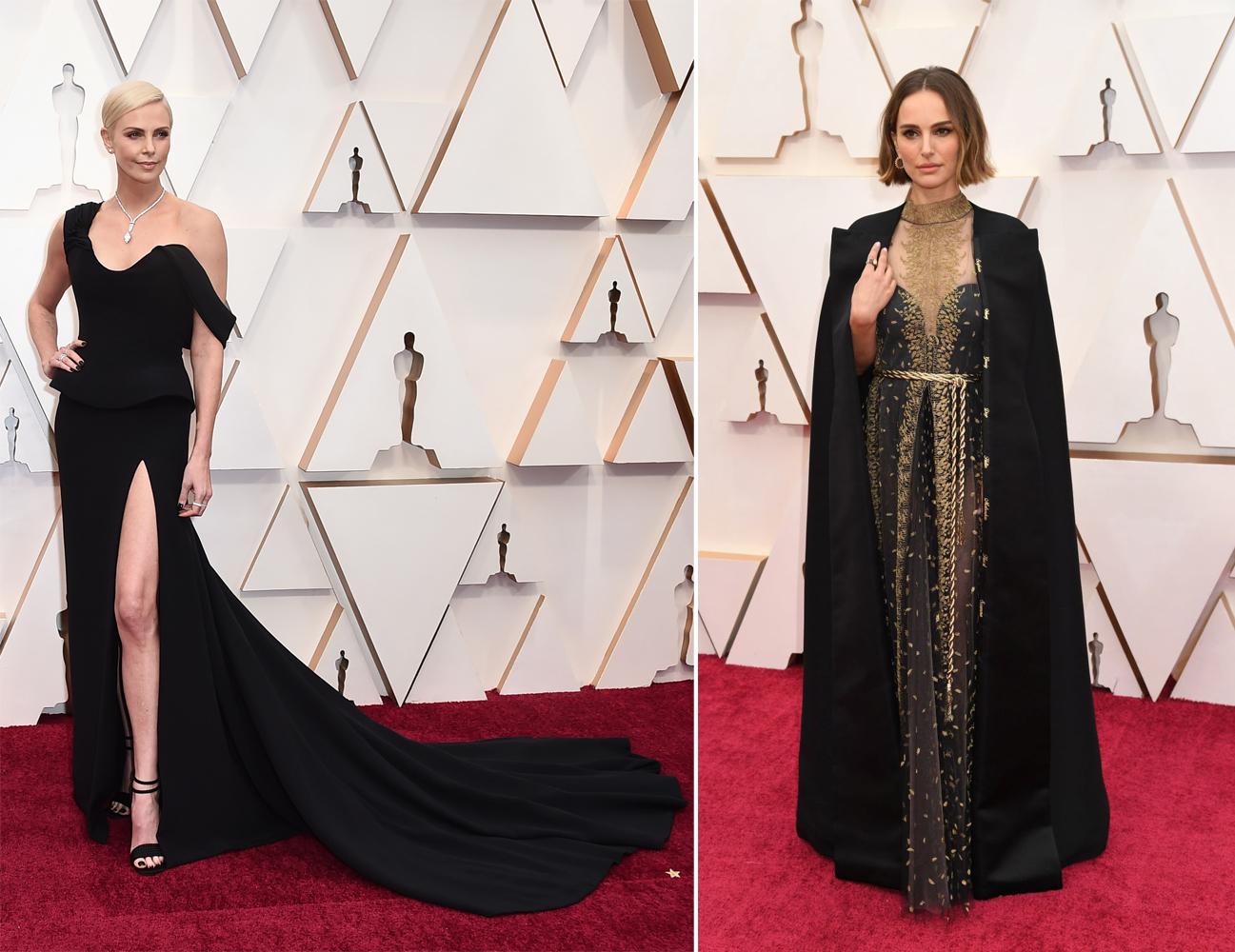 Carlize Theron y Natalie Portman con vestidos de Dior en la gala de los Oscar 2020
