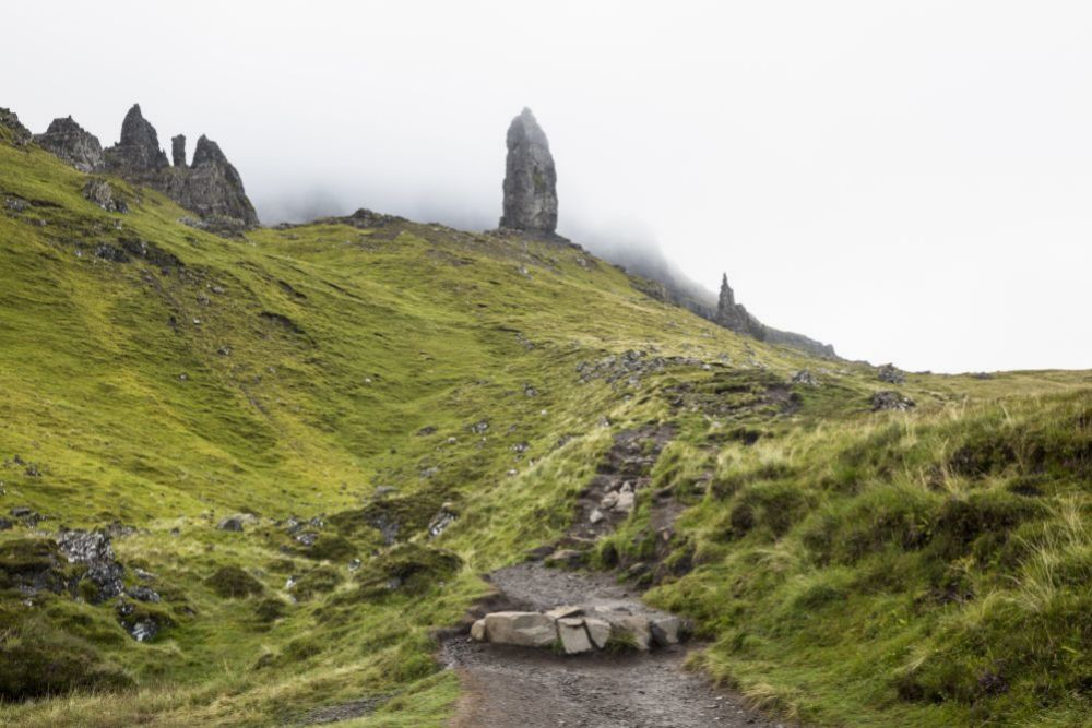 Old Man Storr, en Skye Island, Escocia.
