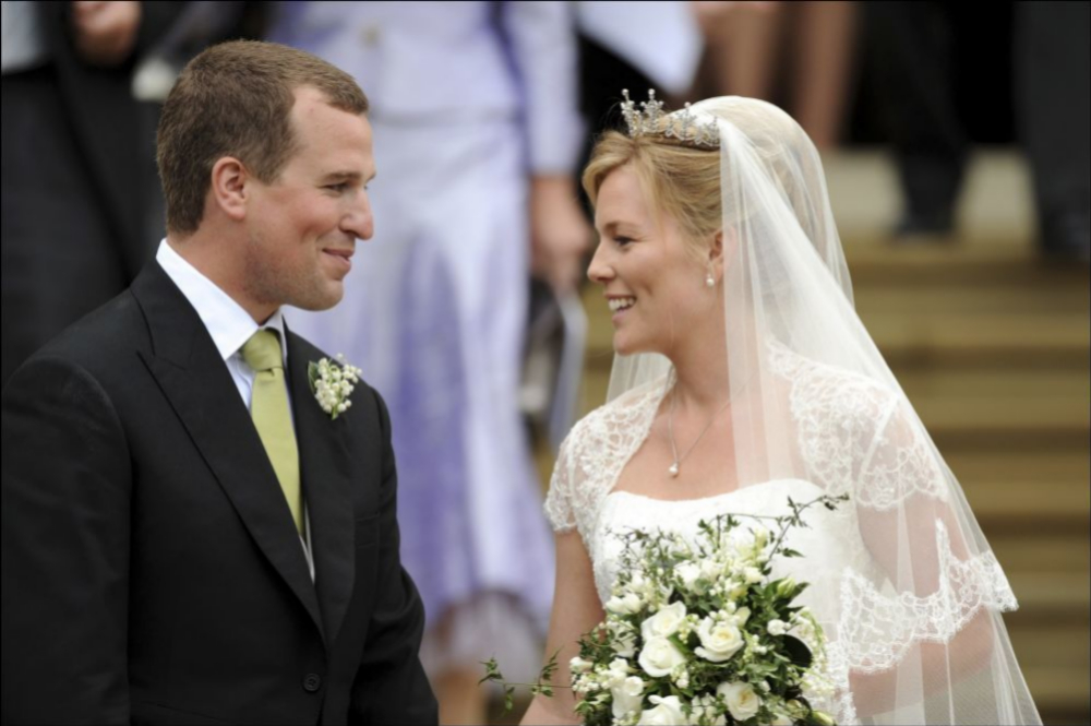 Peter y Autumn el día de su boda.