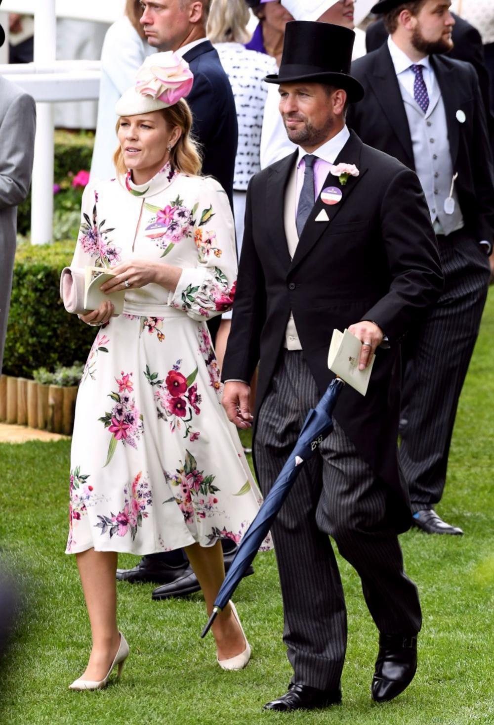 Peter Phillips y su mujer en la última edición de Ascot.