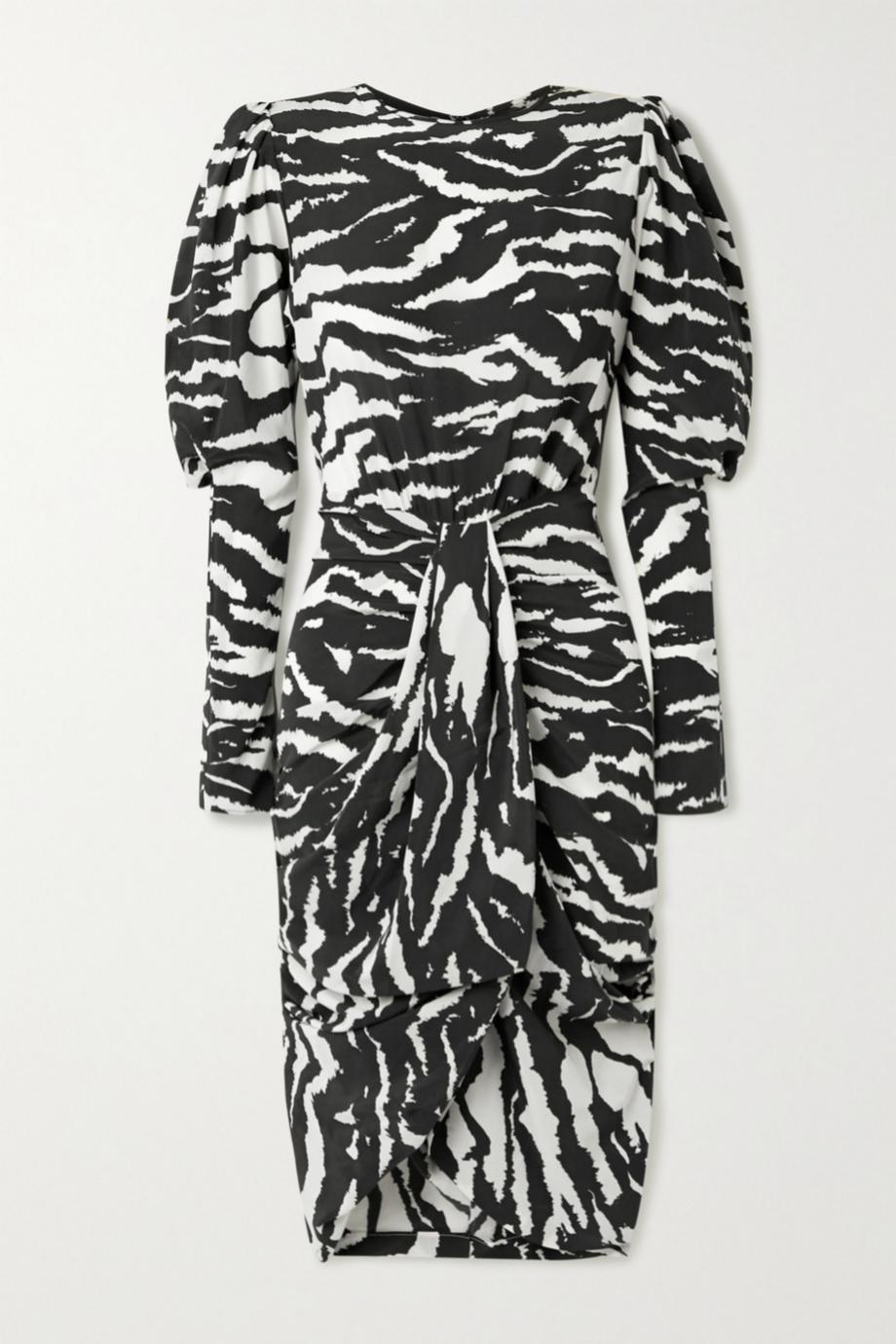 Vestido con estampado de cebra y mangas con volumen de Isabel Marant (c.p.v)