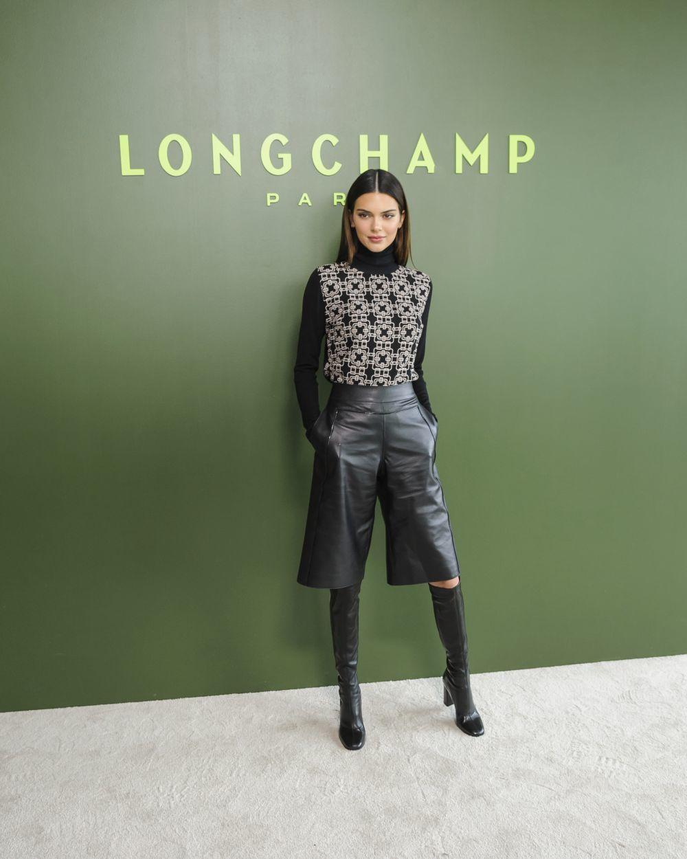 Kendall Jenner en el desfile de Longchamp.