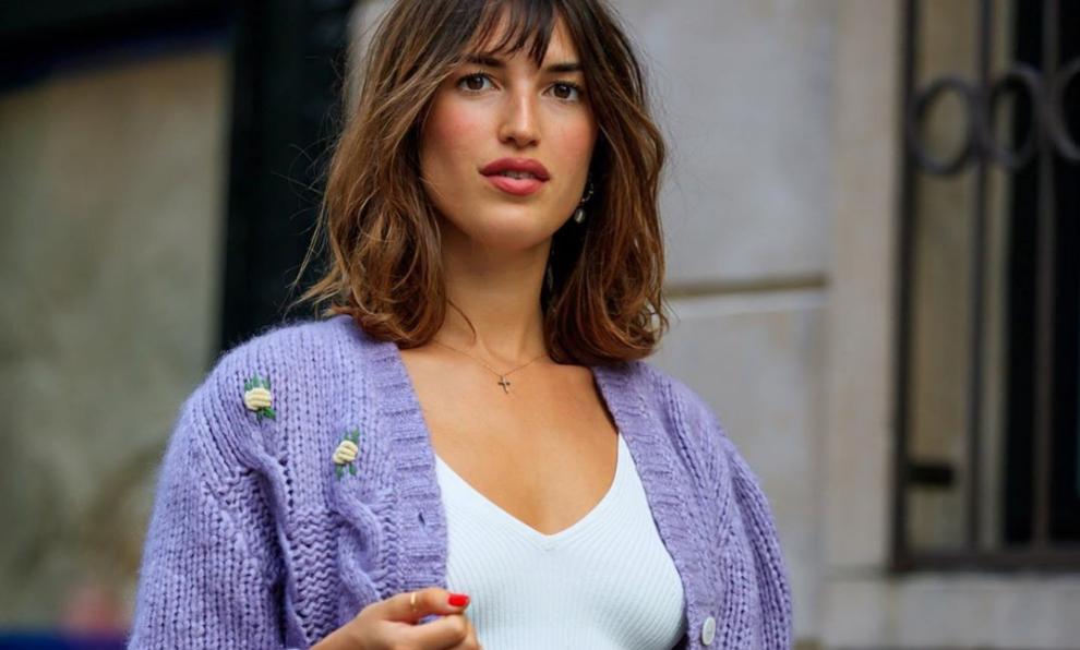 Jeanne Damas con chaqueta de lana de Rouje.