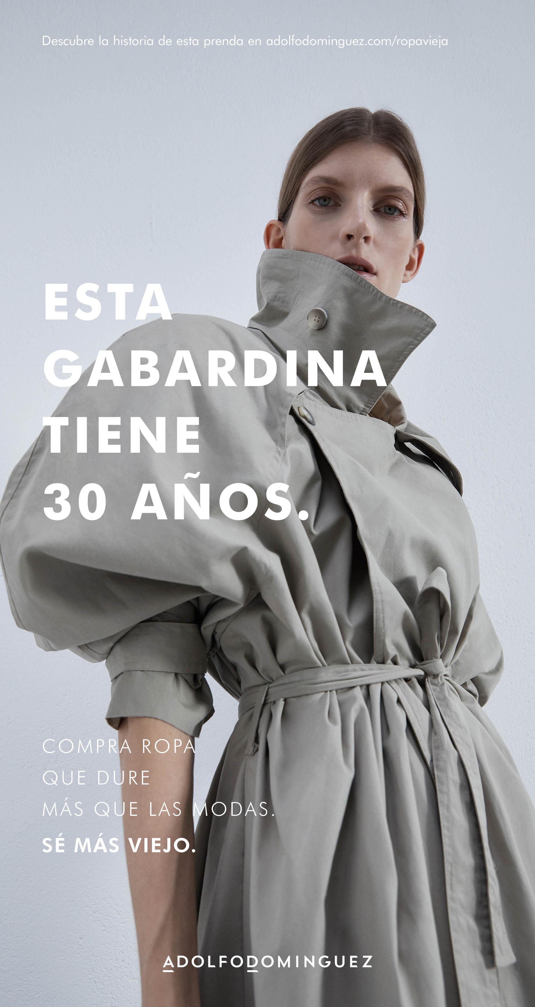 """Campaña """"Ropa Vieja"""" de Adolfo Domínguez, que pone en valor las piezas que duran años y no pasan de moda."""