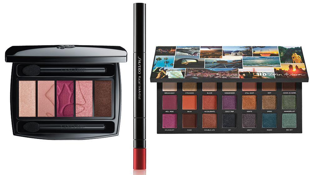Hypnôse Palette Rose Fusion de Lancôme (57 euros); Kajal Ink Rose Pagoda de Shiseido (27 euros); Paleta de sombras de ojos Born to Run de Urban Decay (C.P.V.).
