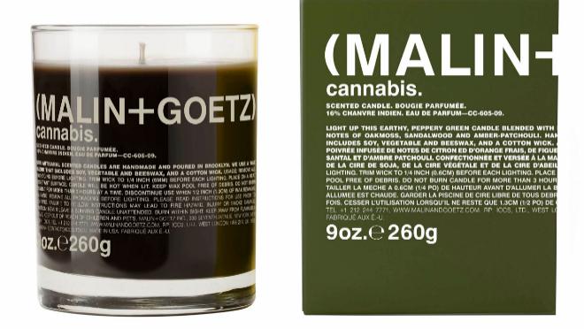 Vela perfumada de cannabis de MALIN + GOETZ Inc., de venta en ABANUC....
