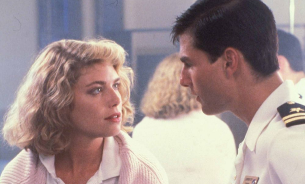 Tom Cruise y Kelly McGillis en el filme Top Gun