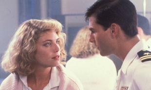 Tom Cruise y Kelly McGillis en el filme Top Gun