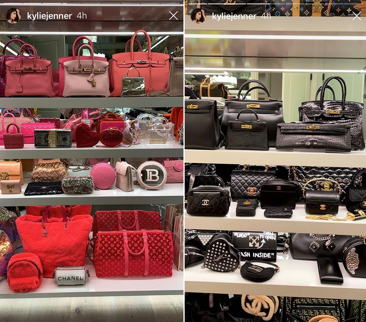 Imágenes del vestidor de Kylie Jenner