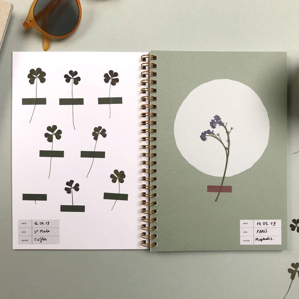 Cuaderno L'Herbier de la tienda Specimen Paris. Incluye etiquetas...